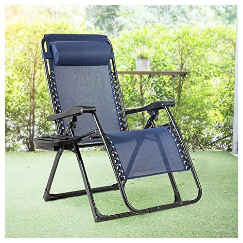 HomyDelight Arm Chair, Recliner & Sleeper Chair, Oversize Lounge Chair Patio Heavy Duty Folding Recliner, Navy