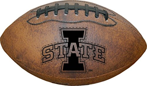 NCAA Iowa State Cyclones Vintage Throwback Football, 9-inches