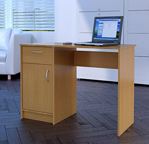 Tyler Home Source Desk Oak 1 Drawer 1 Door Compact Computer Workstation Home Office Table