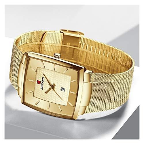 JISHIYU Top Lujo de la Marca Impermeable de los Hombres Relojes de Oro de Acero Inoxidable Reloj de Cuarzo de los Hombres de Negocios Fecha de Pulsera