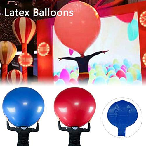 Suszian Globos Redondos de 48 Pulgadas, Subida de látex de 48 Pulgadas en Globo Globo de látex Engrosado para Decoraciones caseras de Bodas/cumpleaños en el hogar
