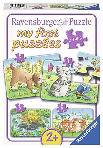 Ravensburger Kinderpuzzle 06951 - Niedliche Haustiere - my first puzzles - 2,4,6,8 Teile
