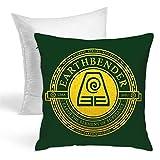 QWEQW Xcphmy Atla Earthbender Symbol Cushion Home Furnishing Sofa Decorative Pillow Cover, Comfortable Pillow with Two-Sided Pillow (with Pillow Core)