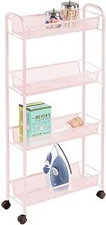 mDesign étagère mobile pour la buanderie – meuble à roulettes compact pour ranger la lessive, le détachant, etc. – chariot...