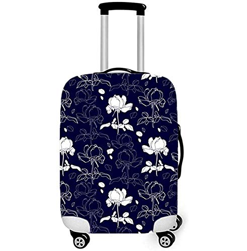 Leaf and Floral Print Luggage Cover Spandex Suitcase Cover Elastic Fits to Size S
