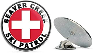 Round Beaver Creek SKI Patrol (co Colorado Snow) Metal 0.75