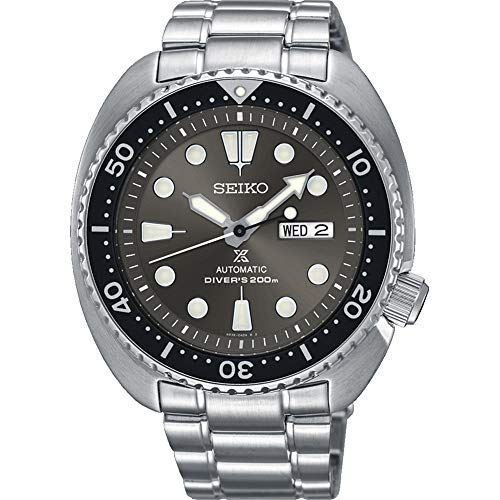 "SEIKO PROSPEX""Turtle"" Diver's 200M Automatic Watch Grey Sunburst Dial SRPC23K1"