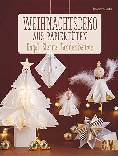 Weihnachtsdeko aus Papiertüten: Engel, Sterne, Tannenbäume
