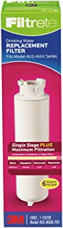 Filtrete High Performance Drinking Water System Filter, Single Stage Plus, 6 Month Filter, Reduces 99% Lead, 2-Pack (4US-MAXL-F01)
