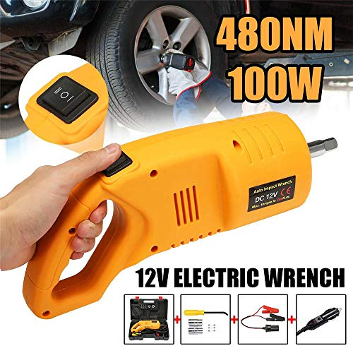 KOUPA 12V Electric Impact Wrench Driver, Professional Car Electric Wrench, 380N.m Torque with 1/2 inch Square Drive for Car Tire Repair Replacing Tools