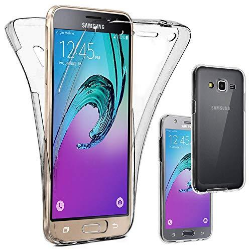 ebestStar - kompatibel mit Samsung Galaxy J3 2016 Hülle SM-J320F Integrales Silikongel Gehäuse Handyhülle Schutzhülle Full TPU Case Cover, Transparent [Phone: 142.3 x 71 x 7.9mm, 5.0\'\']