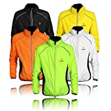 Wolfbike Fahrradjacke, Jersey, Sport, lange Ärmel, Windjacke, Farbe:,Weiß, Größe:,XXXL XXXL weiß