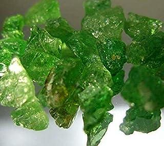 タンザニア産◆ツアボライト(グリーンガーネット)原石◆5カラット◆UVライトで一部蛍光します=9