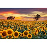 Gamenote Jigsaw Puzzle - Sunflower Puzzle Games for Adult & Kids 1000 Pieces Large Family Puzzle 29.5' x 19.6' Wooden Puzzle Home Decoration