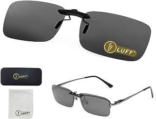 Polarized Clip on Sunglasses for Prescription/Myopia Eyeglasses Outdoor/Driving