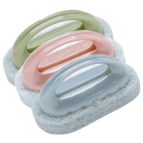 Yyuezhi 3 badkamerkwast badkuip schoonmaken spons borstel tegelborstel keuken reinigingsborstel thuis keuken badkamer badkuip tegelvloer huiswerk tegels keukenreinigingsmiddel