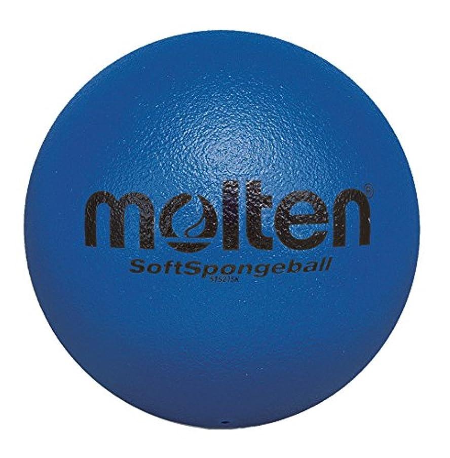 扱いやすい目指す硬さmolten(モルテン) ソフトスポンジボール21cm SK青 STS21SK