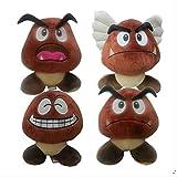 qwermz Peluches Suaves, 4pcs / Set 16cm Super Mario Laugh Goomba Muñecas De Peluche para Muñecas para Regalos De Cumpleaños Infantiles