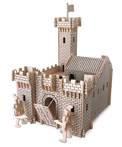 Quay P314 Knight Castle Woodcraft Construction Kit FSC Bausatz, braun