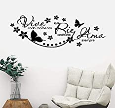 pegatina de pared 3d etiqueta de la pared Decir en español Vive Cada Momento Rie Cada Dia Etiqueta de Ama Siempre para el dormitorio Decoración del hogar