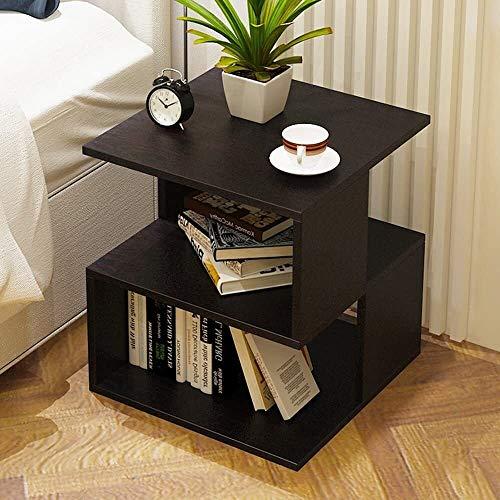 J+N Computer-Schreibtisch/Moderne Nachttisch Nachttisch Druckerhalterung mit Storage Rack Multifunktions-Sofa Beistelltisch/Büro Schreibtisch (Color : Black)