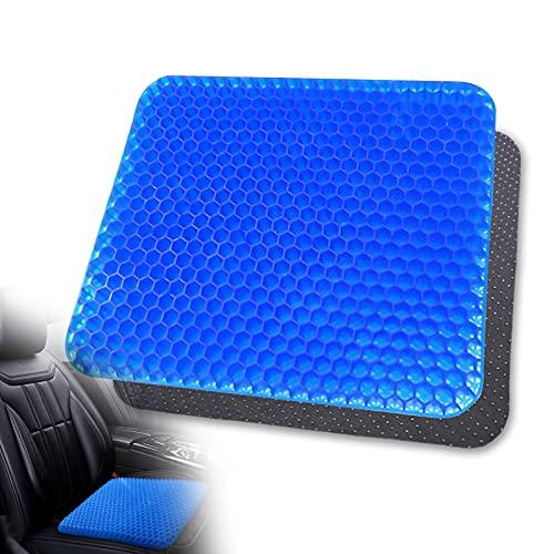 Cojín de gel para asiento de asiento: transpirable, ortopédico, con funda de plástico antideslizante, diseño de panal de abeja, para oficina, coche, silla de ruedas