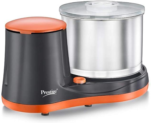 Prestige PWG 07 Wet Grinder, 2L (Multicolor) with Coconut Scraper and Atta Kneader Attachments, 200 Watt