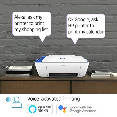 HP Deskjet 2621 All-in-One Wireless Colour Inkjet Printer (White) with Voice-Activated Printing (Works with Alexa and Google Assistant)