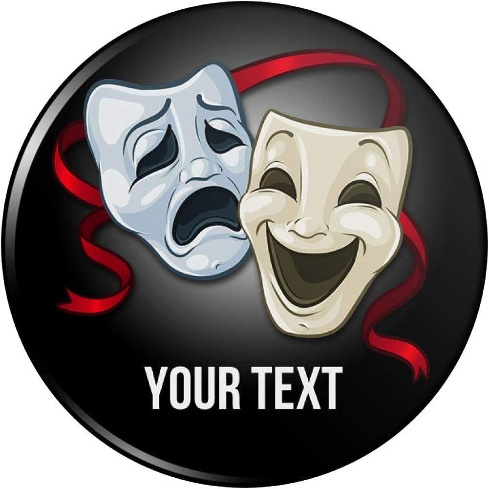 Personalized Custom 1 mart Tulsa Mall Line Drama Theater Pinback Bu Masks Acting