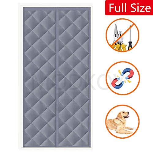 Panel Isolierung Thermovorhang 75 x 180 cm, Magnet Türvorhang, Geräuschisolierung, Tür, Fliegengittertür Terrassentür - Grau