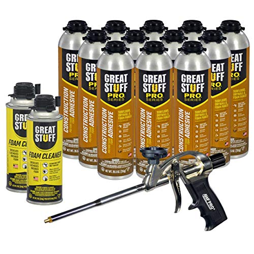 Dow Great Stuff PRO Wall and Floor Kit, 12-26.5 oz...