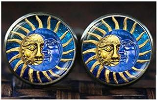 Gemelos, diseño de sol y luna, sol cara Gemelos