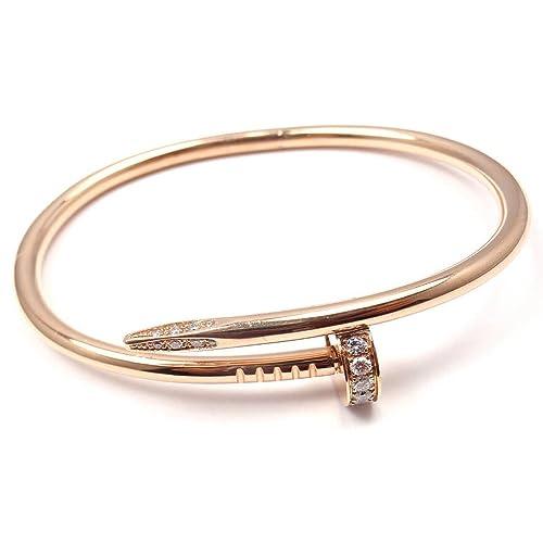 254b8116c06 Women s Stainless Steel Nail Love Bangle Bracelet