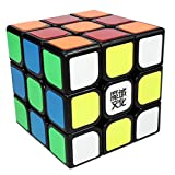Topsung Magic Cube 3x3 Moyu Aolong V2 Speed Cube 3by3 Black with Tripod Base and Original Stickers