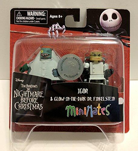 Minimates Nightmare Before Christmas Igor & Glow-in-the-Dark Dr. Finkelstein TRU Exclusive Minifigures