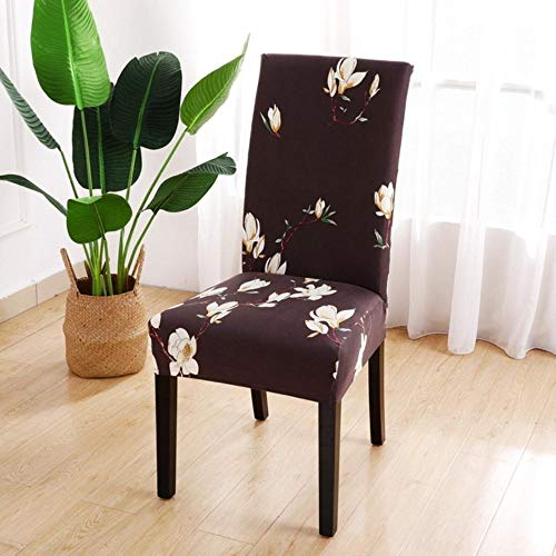 1/2/4/6 STKS Bloemenprint Stoelbekleding Spandex Voor Bruiloft Eetkamerstoel Cover Room Stretch Elastisch Kantoor Banket, J, China