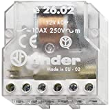 Finder 260280120000 - Telerruptor/interruptor bipolar encastrable 2 NA - AC (50Hz) - 12 V45 x 22 x 47 cm transparente