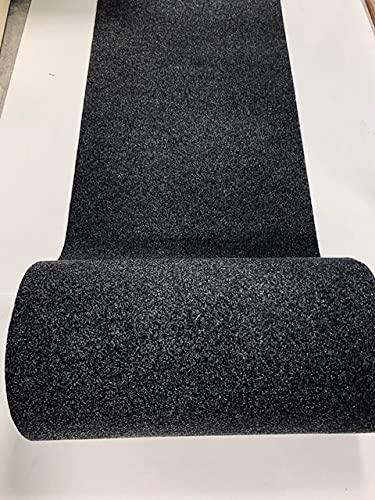 tappeto cucina nero 3 metri M.Service Srl Tappeto/Passatoia Multifunzione in Moquette - sotto lavello - Adatto per Cucina e Bagno - Antiscivolo - Elevata Resistenza - Mis. h 67 x 300 cm (Antracite)