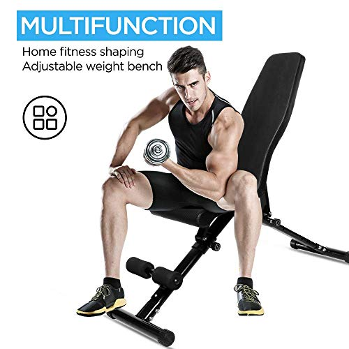 BOSWELL Adjustable Weight Bench,1000 LB Max Weight Workout Weight Bench for Home Gym Weightlifting Foldable Mulit-Purpose Incline Decline Fitness Weight Bench