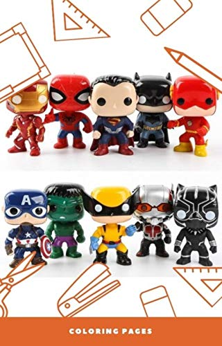 10 FUNKO POP MARVEL DRAWING CARTOONS FOR KIDS: FUNKO POP MARVEL FOR PAINT (English Edition)