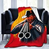 Red De-ad Red-em-Ption 2 Ultra Soft Anti-Pilling Flannel Blanket Arthur Morgan Throw Blanket Warm Plush Cozy Soft Blankets 40X50''