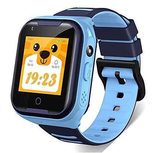 Relógio SmartWatch Kids com GPS e Vídeo Chamada 36pro com Câmera e Localizador Original da LEMFO (AZUL)
