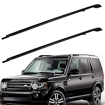 ROADFAR Roof Rack Side Rails Aluminum Top Side Rail Carries Luggage Carrier Fit for 2005-2009 for Land Rover LR3 Sport Utility,2010-2016 for Land Rover LR4 Sport Utility Baggage Roof Side Rail