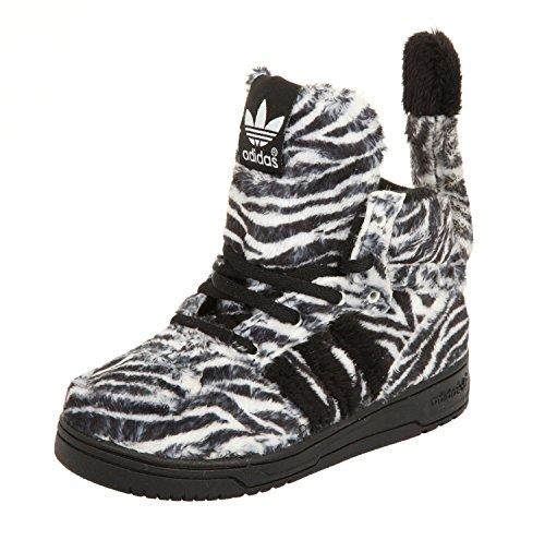 adidas Jeremy Scott Unisex Sneakers JS ZEBRA I Negro/Blanco, size:25