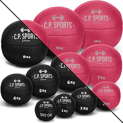 C.P. Sports - Balón medicinal (0,5 kg hasta 10 kg), color rosa o negro