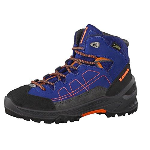Lowa Approach GTX Mid Junior, Botas de montaña Unisex Niños, Azul (Blau/Orange), 35 EU