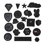 Iron-on patch-20 piezas de ropa adhesivos parche insignia distintivo, adecuado para zapatos, sombreros, bolsos y bricolaje hecho a mano, planchado y costura.