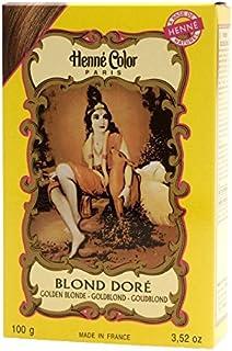 Henne Color Henna Powder Hair Colour Golden Blonde 100g (Pack of 6) - ヘンカラーヘナパウダー髪の色金色のブロンドの100グラム (x6) [並行輸入品]