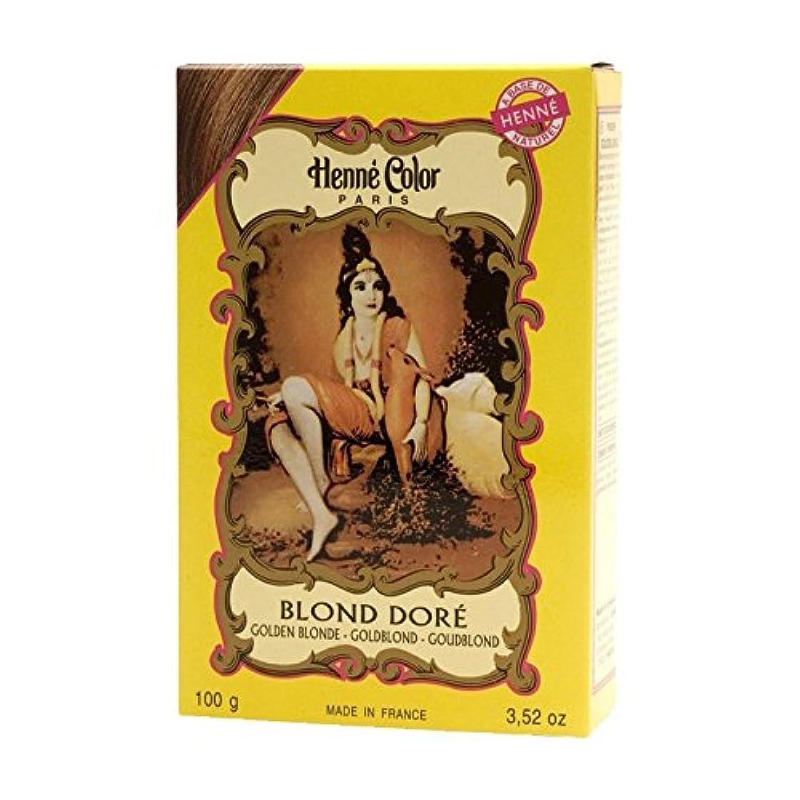 木曜日ステープル投げるHenne Color Henna Powder Hair Colour Golden Blonde 100g (Pack of 6) - ヘンカラーヘナパウダー髪の色金色のブロンドの100グラム (x6) [並行輸入品]