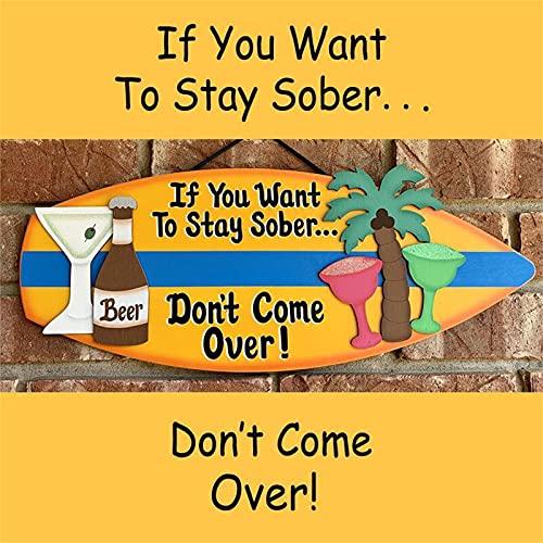 Placa de muestra de pared con forma de tabla de surf, decoración para colgar en la pared, decoración para la playa, decoración de la placa de bar, decoración de banner de fondo de fiesta, decoración